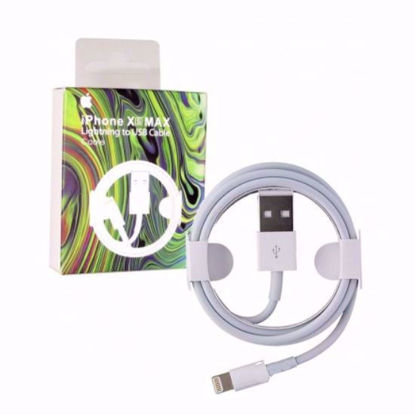تصویر کابل شارژر و تبدیل USB به لایتنینگ آیفون اصلی