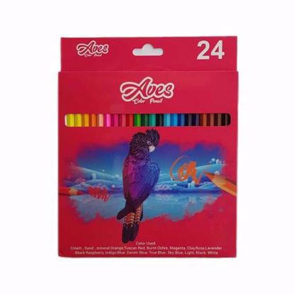 تصویر مداد رنگی 24 رنگ اویز مدل فانی فان