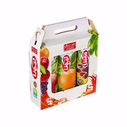 آبمیوه یک لیتری پک سیب، پرتقال، مخلوط میوه های قرمز لیونا شیرین عسل