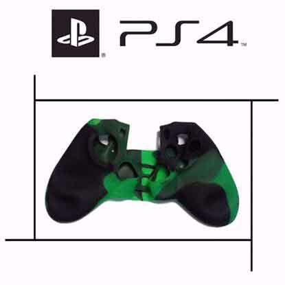 تصویر روکش دسته پلی استیشن PS4 سبز چریکی