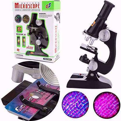 نمایی از میکروسکوپ به همراه جعبه