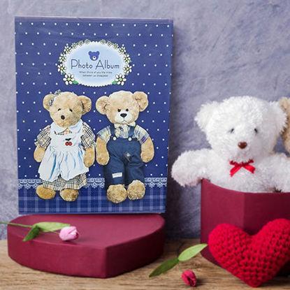 تصویر آلبوم عکس طرح خرس سرمه ای با ظرفیت 40 عکس