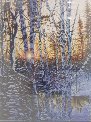 تصویر پازل 1000 تکه  طرح جنگل و روباه