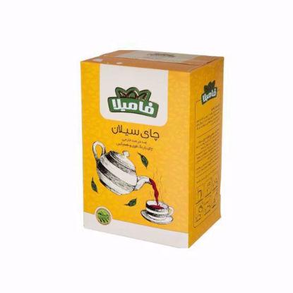 تصویر چای سیلان فامیلا با رنگ قوی و طعم گس 100 گرمی زرد