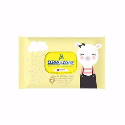 تصویر دستمال مرطوب WEE CARE بسته 72 عددی (زرد)