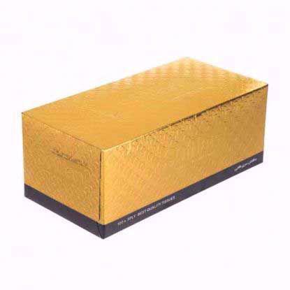 تصویر دستمال کاغذی سافتلن 150برگ مدل طلایی