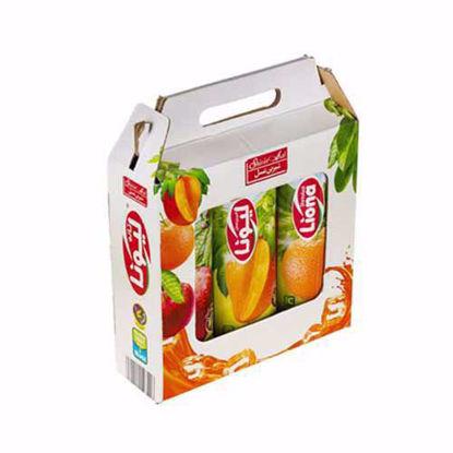آبمیوه یک لیتری پک سیب، پرتقال، انبه لیونا شیرین عسل