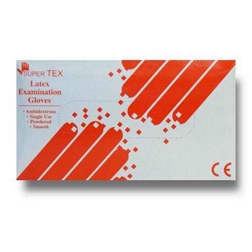 دستکش لاتکس 100 عددی SUPER TEX سایز کوچک (Small)