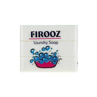 صابون لباسشویی فیروز حجم 120 گرم بسته 3 عددی