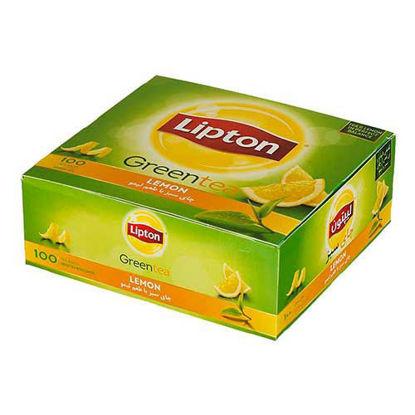 چای سبز کیسه ای لیپتون مدل Lemon بسته 100 عددی