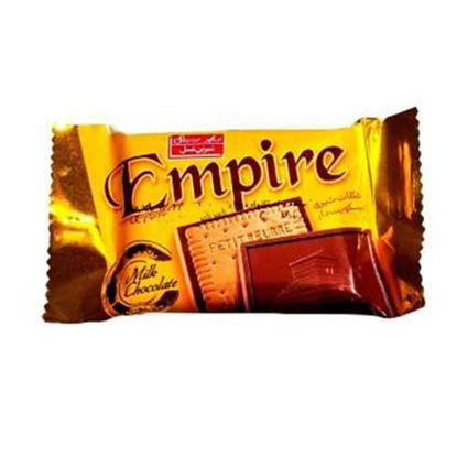 تصویر شکلات شیری  بیسکویت دار شیرین عسل امپایر 18 گرمی