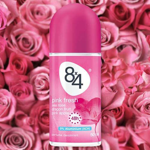 مام رول ضد تعریق زنانه 8x4 مدل Pink Fresh حجم 50 میلی لیتر