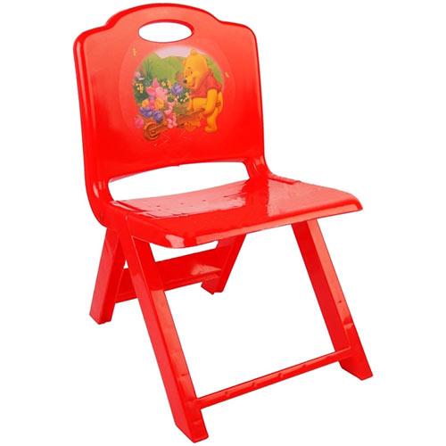 تصویر صندلی تاشو کودک قرمز رنگ تابا