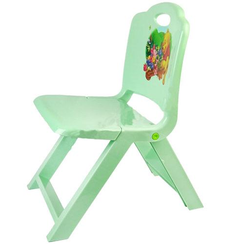 تصویر صندلی تاشو کودک فیروزه ای رنگ تابا